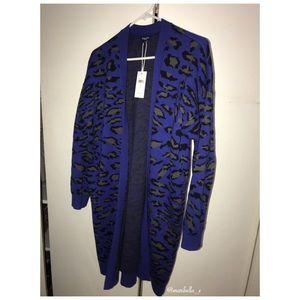 Beautiful oversized leopard print cardigan